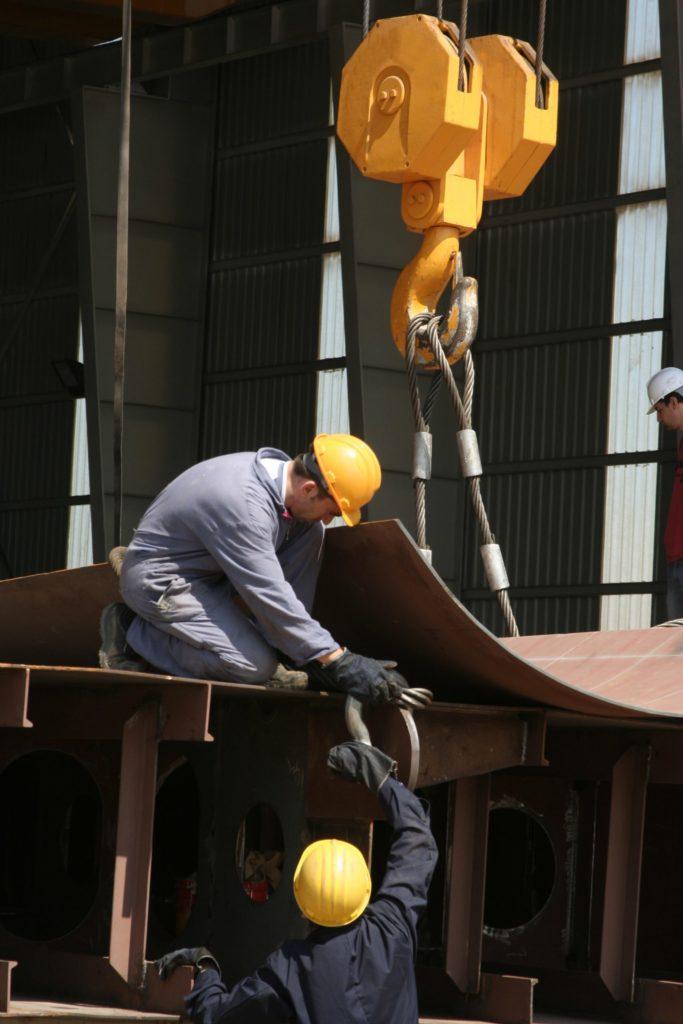 Metal undergoing maintenance