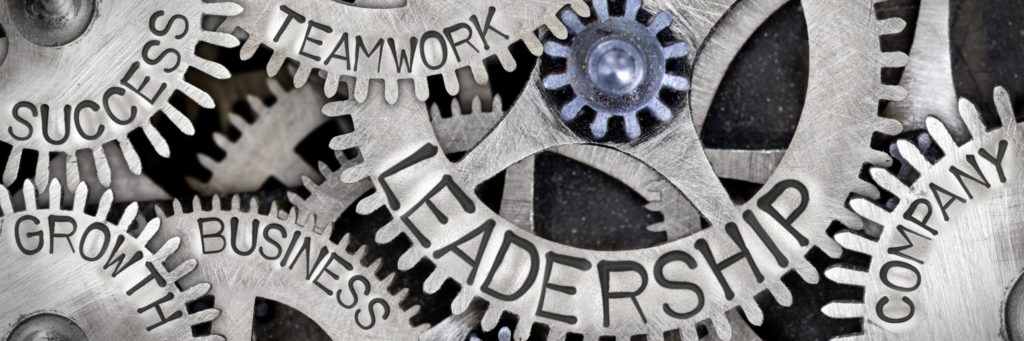 gears with business goals etched into them