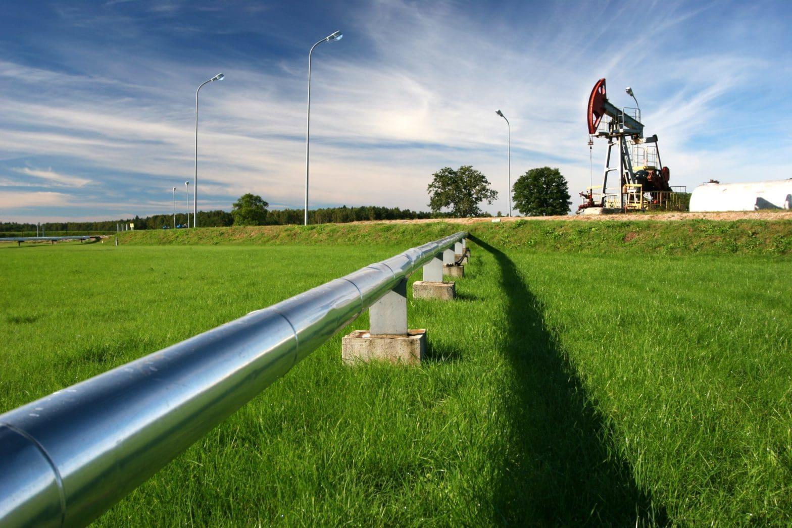 Oil Pipeline Green Field