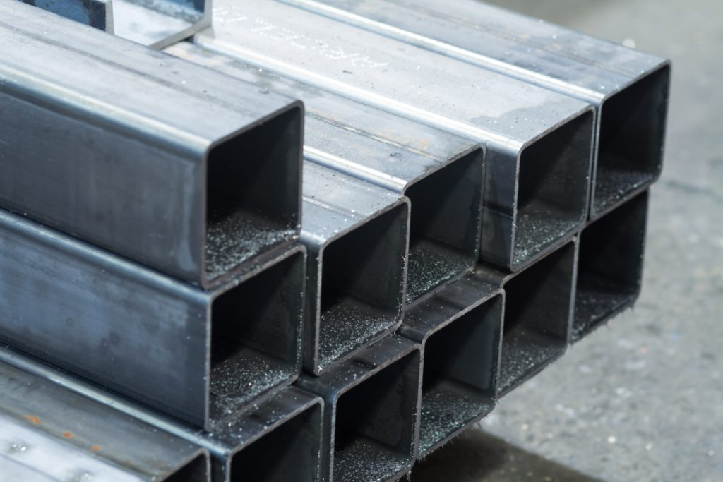 Bars made of carbon steel. Carbon steel can be used for mobile cold spray repairs.