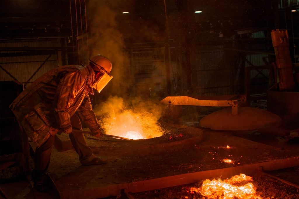 metalworker is near metal fumes which can cause sickness if not protected